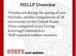 nsllp overview