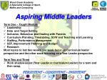 aspiring middle leaders
