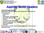 aspiring senior leaders