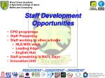 staff development opportunities