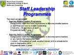 staff leadership programmes