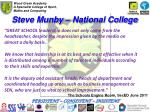 steve munby national college