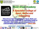 wood green academy a specialist college of sport maths and computing
