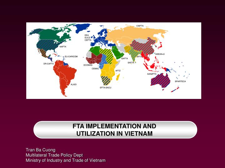 tran ba cuong multilateral trade policy dept ministry of industry and trade of vietnam n.