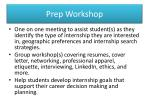 prep workshop