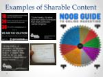 examples of sharable content