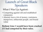 launch of great black speakers