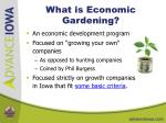what is economic gardening