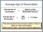 average age of receivables