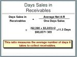 days sales in receivables