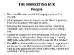 the marketing mix people
