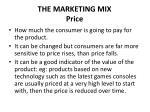 the marketing mix price
