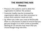 the marketing mix process
