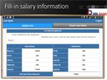 fill in salary information