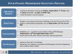 four phased membership selection process