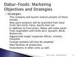 dabur foods marketing objectives and strategies1