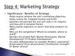 step 4 marketing strategy