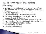 tasks involved in marketing planning