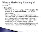 what is marketing planning all about
