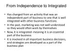 from independence to integrated