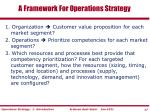 a framework for operations strategy1