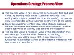 operations strategy process view