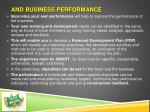 and business performance
