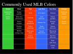 commonly used mlb colors