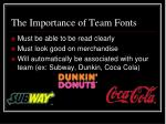 the importance of team fonts