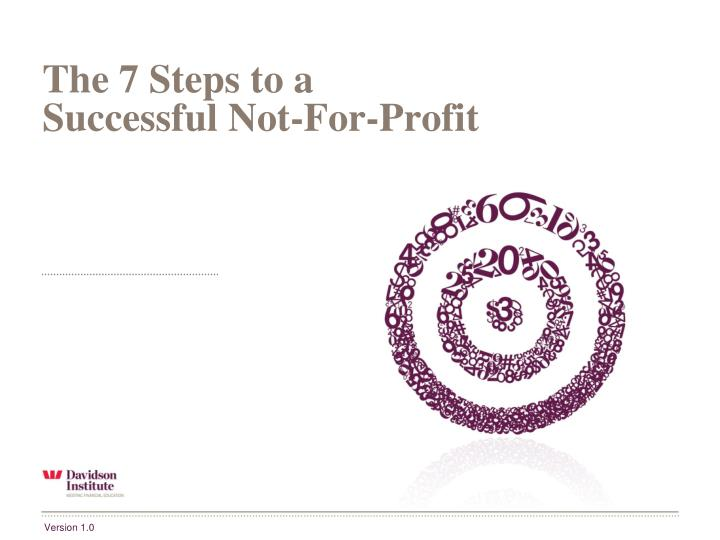 the 7 steps to a successful not for profit n.