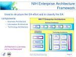 nih enterprise architecture framework