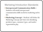 marketing introduction standards