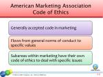 american marketing association code of ethics