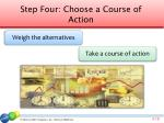 step four choose a course of action