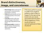brand distinctiveness image and concreteness1
