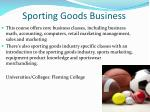 sporting goods business