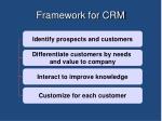 framework for crm