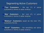 segmenting active customers