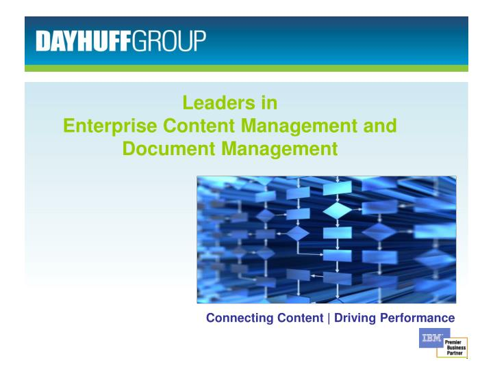 leaders in enterprise content management and document management n.