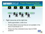 project engagement model approach