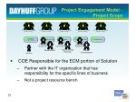 project engagement model project scope