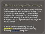 ethics as a corporate strategy