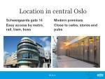 location in central oslo