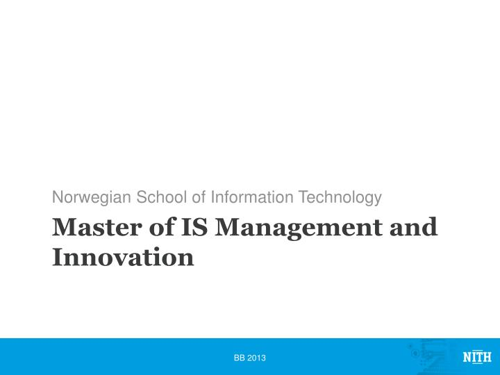 master of is management and innovation n.