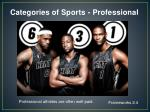 categories of sports professional1