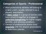 categories of sports professional2