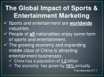 the global impact of sports entertainment marketing