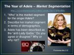 the year of adele market segmentation