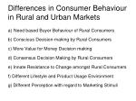 differences in consumer behaviour in rural and urban markets