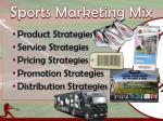 sports marketing mix